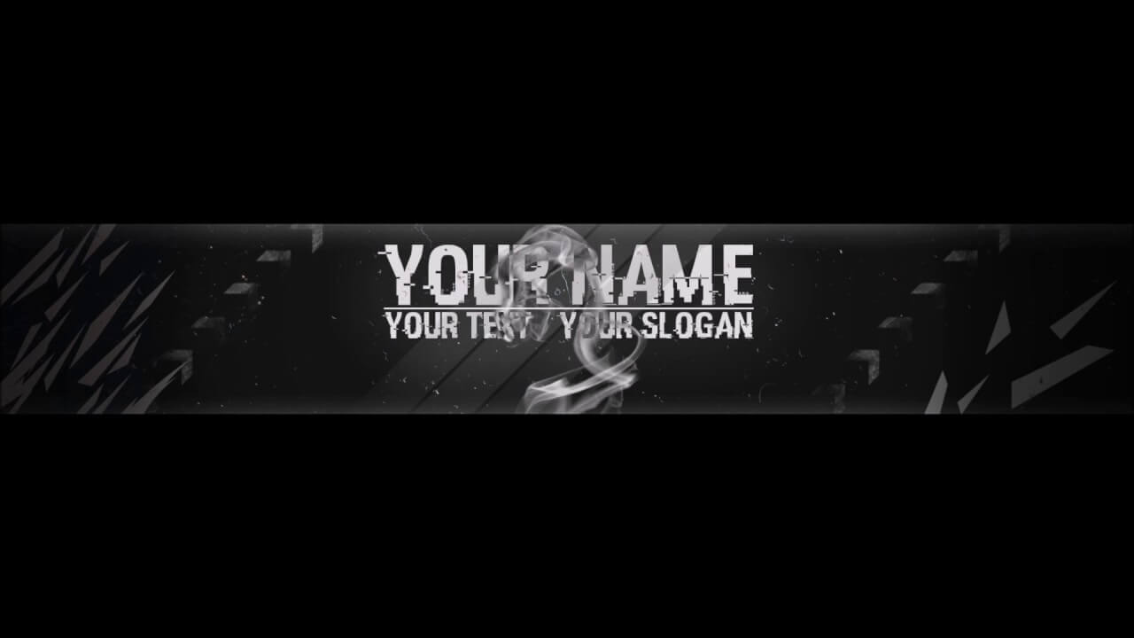 Free, Epic Youtube Banner / Channel Art Template - [Gimp And Photoshop] +  Download [Hacked Style] In Youtube Banner Template Gimp