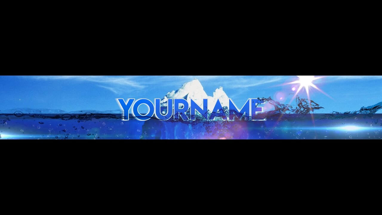 Free, Epic Youtube Banner / Channel Art Template – [Gimp And Photoshop] +  Download [Iceberg Style] Throughout Youtube Banner Template Gimp