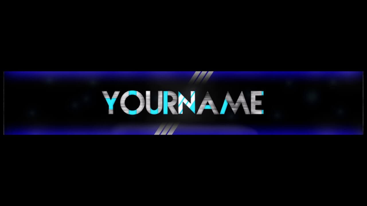 Free, Epic Youtube Banner/channel Art Template – [Gimp] + Download  [Futuristic Style] With Gimp Youtube Banner Template