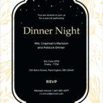 Free Event Invitation Template – Wovensheet.co Regarding Free Dinner Invitation Templates For Word