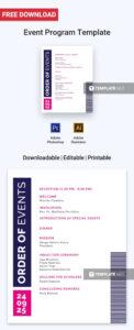 Free Event Program Invitation   Program Templates & Designs within Free Event Program Templates Word