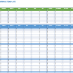 Free Expense Report Templates Smartsheet in Monthly Expense Report Template Excel