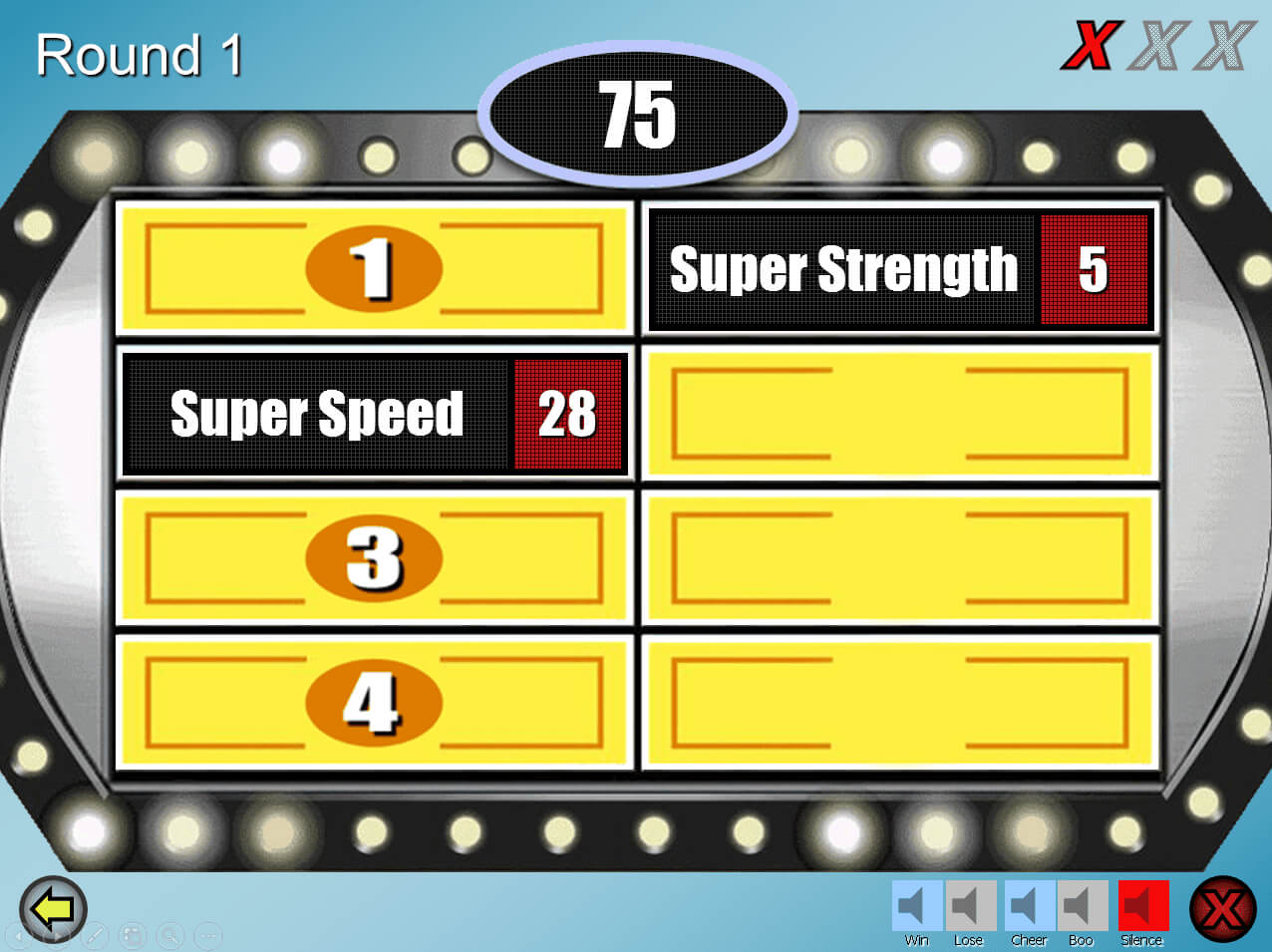 Free Family Feud Powerpoint Templates For Teachers In Family Feud Powerpoint Template Free Download