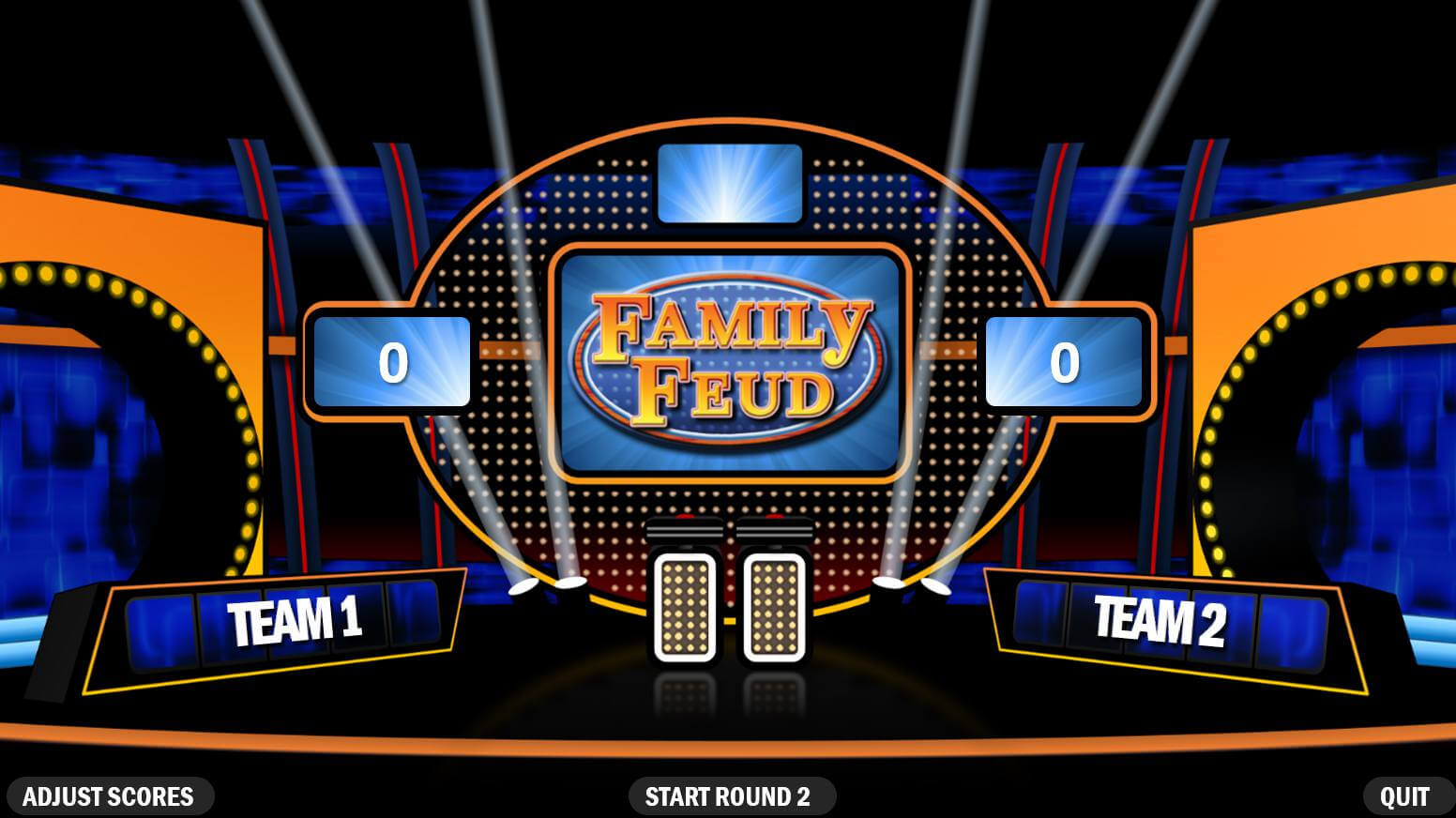Free Family Feud Powerpoint Templates For Teachers Throughout Family Feud Powerpoint Template With Sound