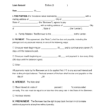 Free Family Loan Agreement Template – Pdf | Word | Eforms Inside Blank Loan Agreement Template