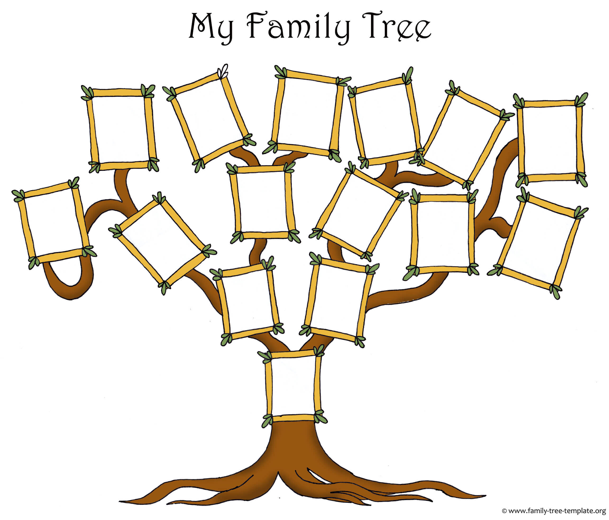 Free Family Tree Template Designs For Making Ancestry Charts In Blank Family Tree Template 3 Generations