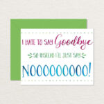 Free Farewell Card Template – Top Image Gallery Site Within Goodbye Card Template