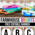 Free Farmhouse Banner For The Classroom – Modern Farmhouse With Classroom Banner Template