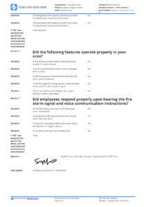 Free Fire Drill Report Template – Use, Customise, Download intended for Fire Evacuation Drill Report Template