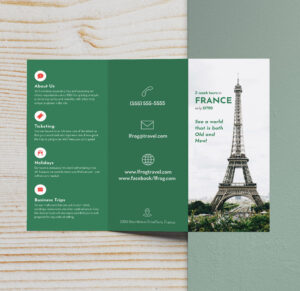 Free Fold 009 Download France Travel Top Brochure Ideas regarding Tri Fold Brochure Publisher Template