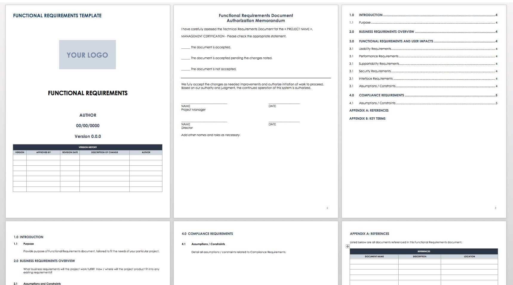 Free Functional Specification Templates | Smartsheet Throughout Report Specification Template