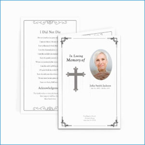 Free Funeral Invitation Card Template Astonishing in Funeral Invitation Card Template