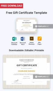 Free Gift Certificate | Printables, Invitations, Stationery pertaining to Company Gift Certificate Template