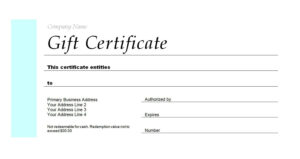 Free Gift Certificate Templates You Can Customize for Homemade Gift Certificate Template