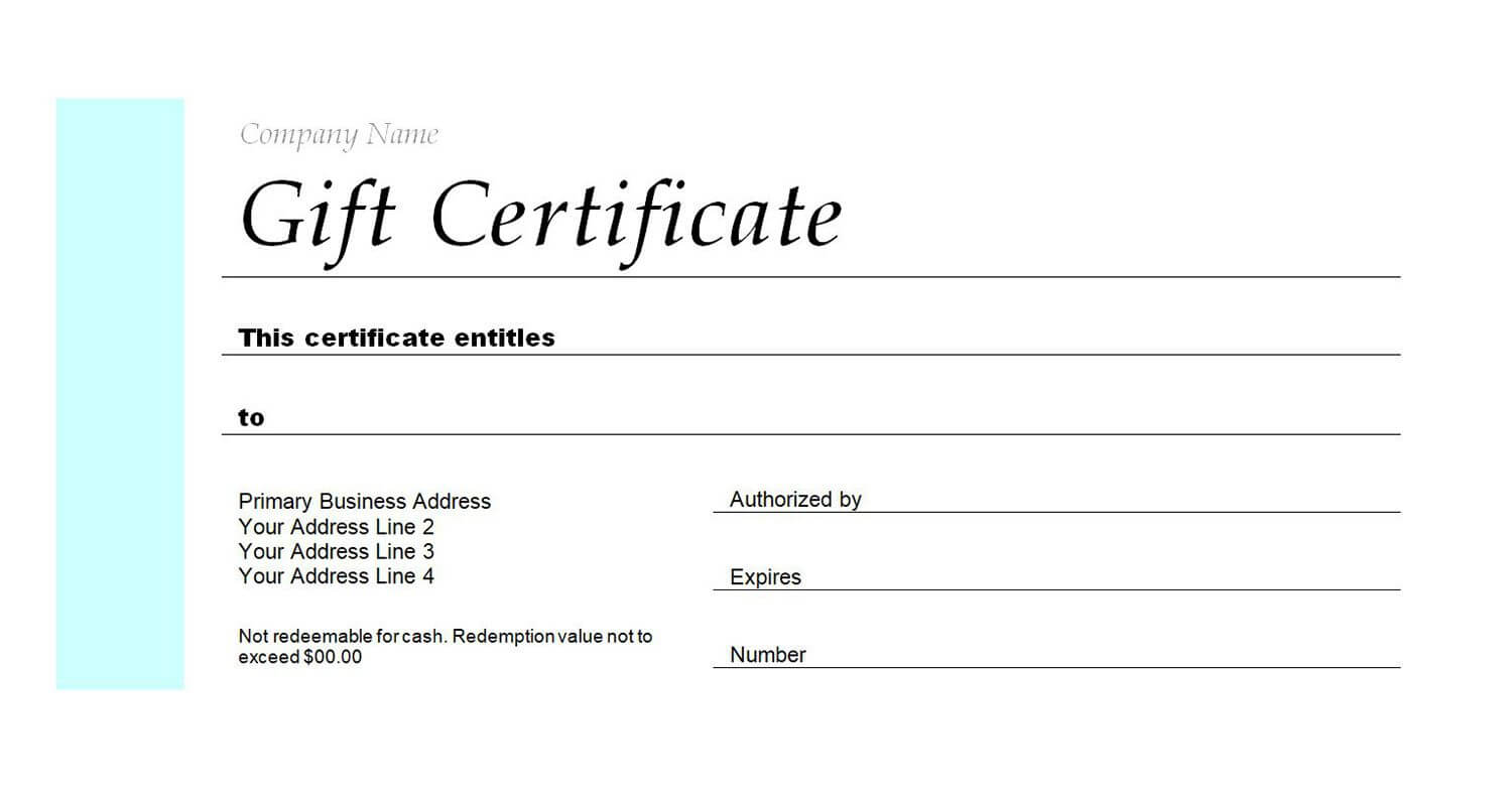 Free Gift Certificate Templates You Can Customize Pertaining To Restaurant Gift Certificate Template