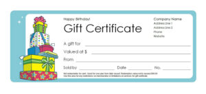 Free Gift Certificate Templates You Can Customize throughout Customizable Blank Check Template