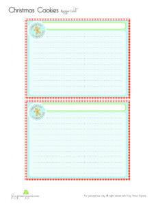 Free} Gingerbread Christmas Cookies Free Printable Recipe inside Cookie Exchange Recipe Card Template