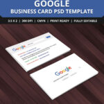 Free Google Interface Business Card Psd Template   Free In Name Card Photoshop Template