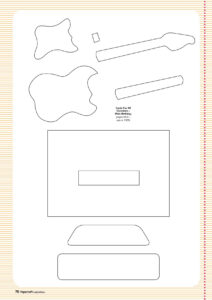 Free Guitar Template Paper From Www regarding Free Printable Pop Up Card Templates