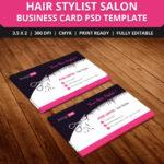 Free Hair Stylist Salon Business Card Template Psd | Free Pertaining To Hair Salon Business Card Template