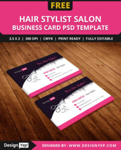 Free-Hair-Stylist-Salon-Business-Card-Template-Psd | Free pertaining to Hair Salon Business Card Template