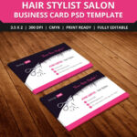 Free-Hair-Stylist-Salon-Business-Card-Template-Psd | Free with Hairdresser Business Card Templates Free