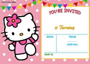 Free Hello Kitty Invitation | Free Printable Birthday for Hello Kitty Birthday Card Template Free