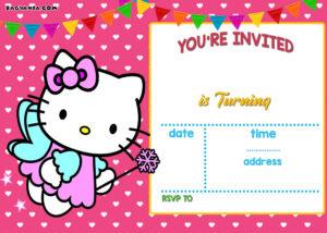 Free Hello Kitty Invitation | Free Printable Birthday intended for Hello Kitty Birthday Card Template Free