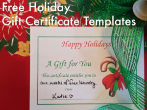 Free Holiday Gift Certificates Templates To Print | Tis The for Homemade Christmas Gift Certificates Templates