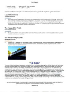 Free Home Inspection Report Form Pdf And Home Inspection for Home Inspection Report Template Free
