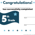 Free Homeschool Printables – A Plan In Place Throughout 5Th Grade Graduation Certificate Template