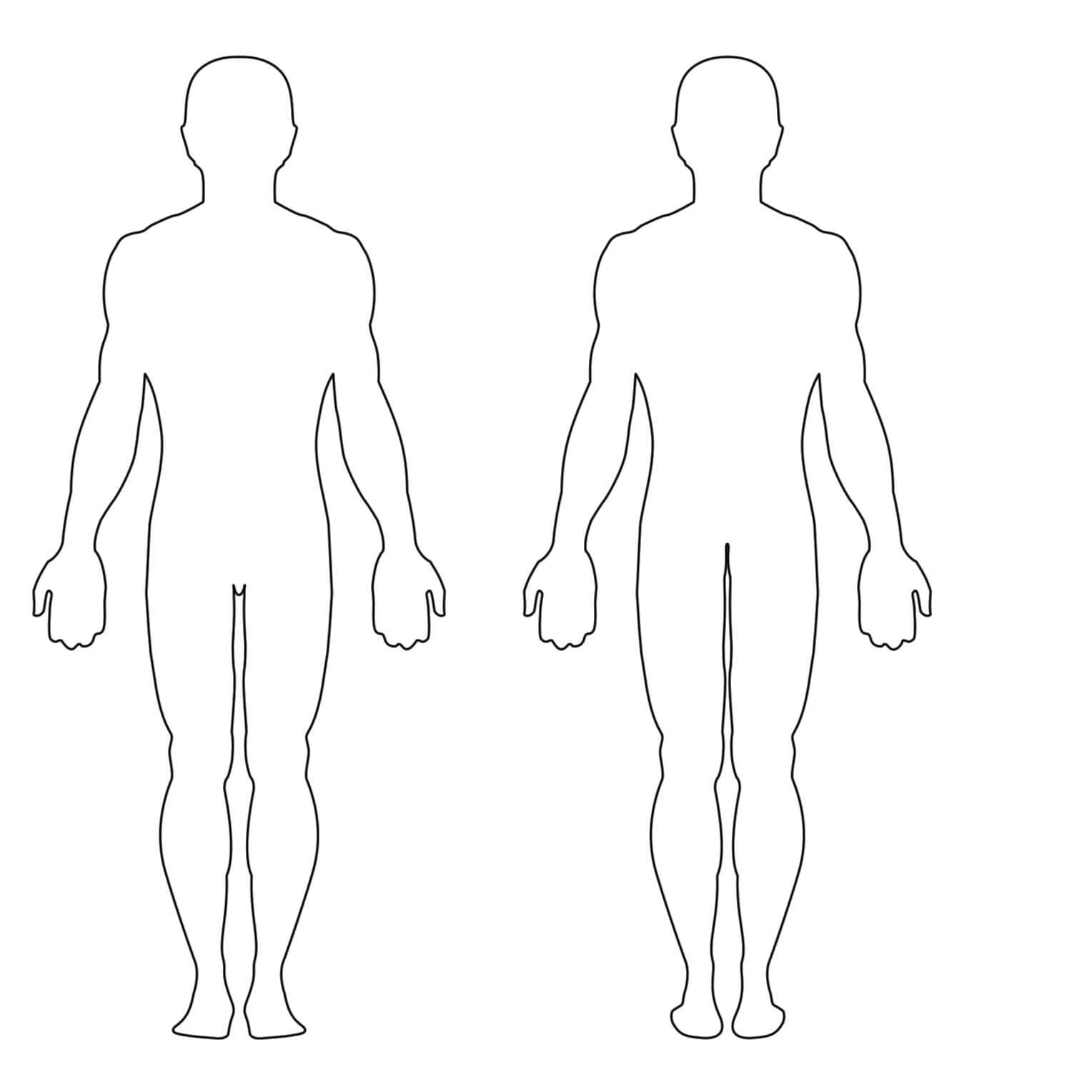 Free Human Body Outline Printable, Download Free Clip Art In Blank Body Map Template