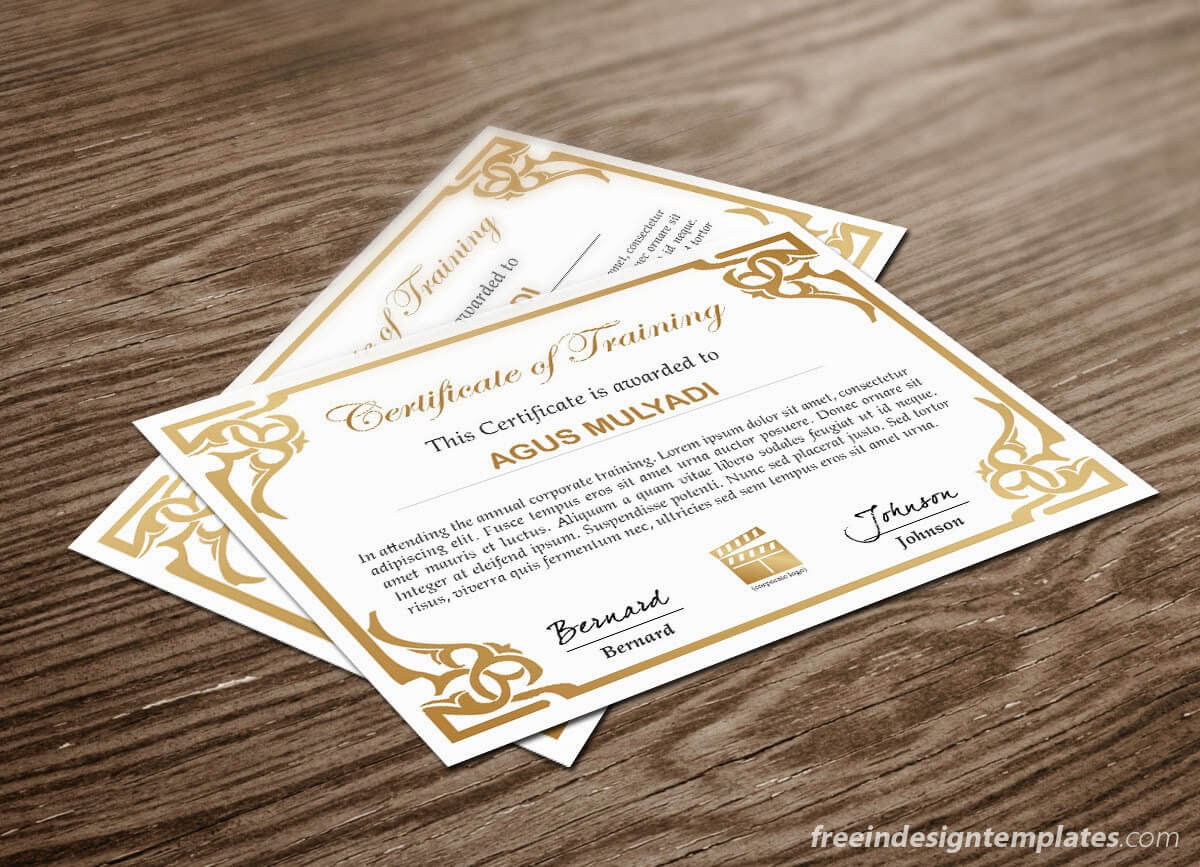 Free Indesign Certificate Template #1 | Free Indesign For Indesign Certificate Template