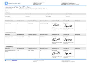 Free Inspection And Test Plan Template (Better Than Excel regarding Test Template For Word