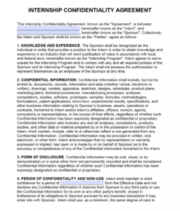 Free Intern Non-Disclosure Agreement (Nda) – Pdf – Word with regard to Nda Template Word Document