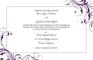 Free Invitation Templates For Word | Template Business for Free Dinner Invitation Templates For Word