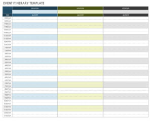 Free Itinerary Templates | Smartsheet intended for Blank Trip Itinerary Template