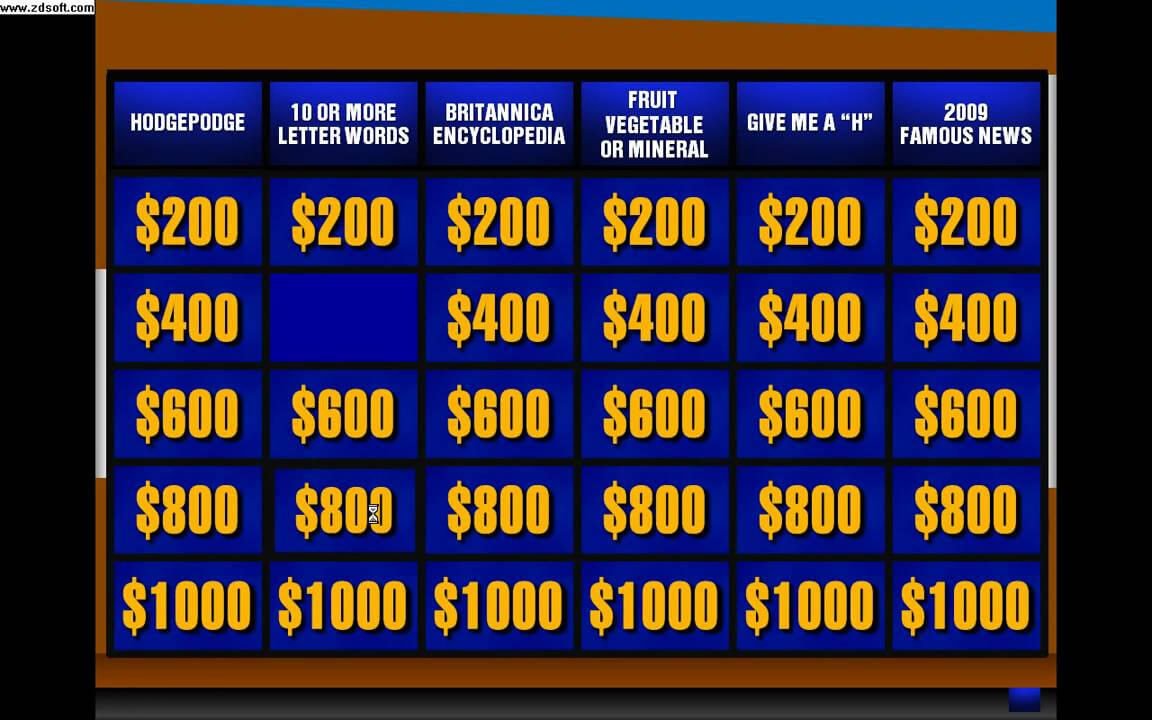 [Free!] Jeopardy! Powerpoint Game V3 (Add Some New!! 5 / 8 / 2013) Within Jeopardy Powerpoint Template With Sound