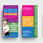 Free Kid's Camp Flyer & Brochure Template In Psd, Ai Pertaining To Summer Camp Brochure Template Free Download