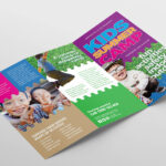 Free Kid's Camp Flyer & Brochure Template In Psd, Ai Regarding Summer Camp Brochure Template Free Download