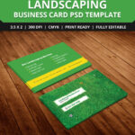 Free Landscaping Business Card Template Psd | Free Business Throughout Landscaping Business Card Template