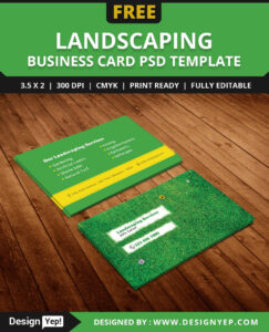 Free-Landscaping-Business-Card-Template-Psd | Free Business throughout Landscaping Business Card Template