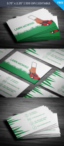 Free Lawn Care Business Card within Lawn Care Business Cards Templates Free