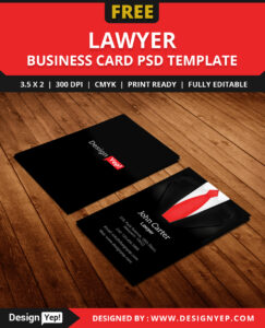 Free Lawyer Business Card Template Psd – Designyep with Calling Card Free Template