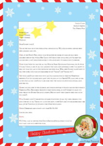 """Free """"Letter From Santa"""" Template For You To Download And for Letter From Santa Template Word"""