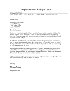 Free Letter Of Interest Templates | Sample Interview Thank intended for Letter Of Interest Template Microsoft Word