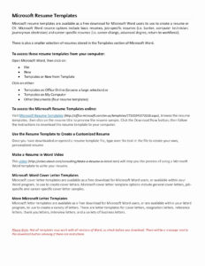 Free Letter Template Word Collection Resume Samples intended for Free Basic Resume Templates Microsoft Word