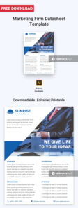 Free Marketing Firm Datasheet | Data Sheet Templates intended for Datasheet Template Word