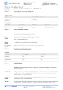 Free Material Safety Data Sheet Template (Better Than Word with regard to Datasheet Template Word