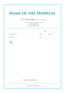 Free Medical Prescription Format | Download In 2019 with regard to Blank Prescription Form Template